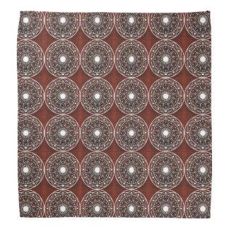 White Claret  Mandala Pattern Bandana