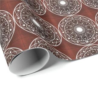 White Claret  Mandala Pattern On Claret Wrapping Paper