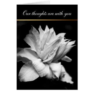 White Clematis 1 Condolences Sympathy card