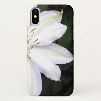 White Clematis Flower Case-Mate iPhone Case