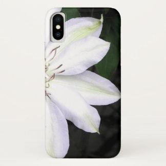 White Clematis Flower iPhone X Case