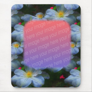 White Clematis Flowers Your Photo Mousepad