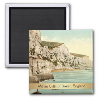White Cliffs of Dover, Kent, England Square Magnet