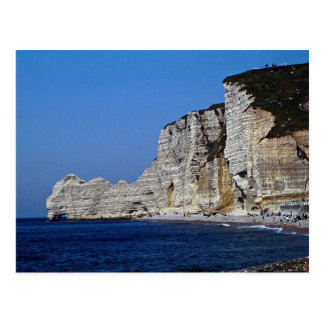 White cliffs on Normandy coast, France Postcard