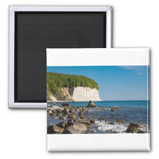 White cliffs on shore of the Baltic Sea Square Magnet