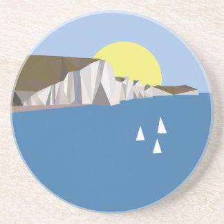 White Cliffs Summer Beverage Coasters