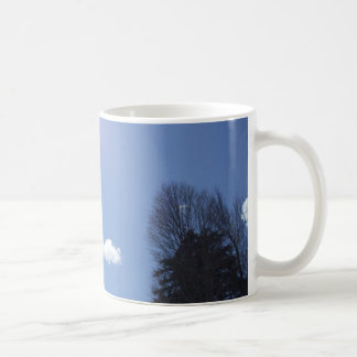 White Clouds in Blue Sky Coffee Mug