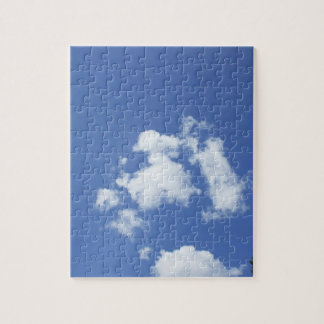 White Clouds in Blue Sky Jigsaw Puzzle