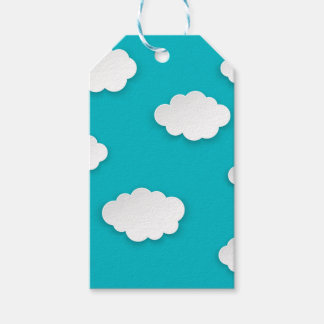 White clouds on blue sky gift tags