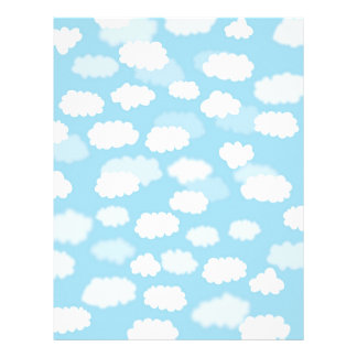 White clouds on blue sky paper print