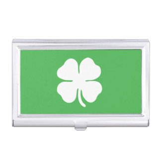 White Clover Leaf Business Card Holder
