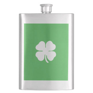 White Clover Leaf Classic Flask
