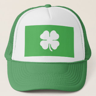 White Clover Leaf Trucker Hat