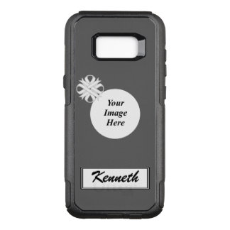 White Clover Ribbon Template by Kenneth Yoncich OtterBox Commuter Samsung Galaxy S8+ Case