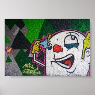 White Clown Poster