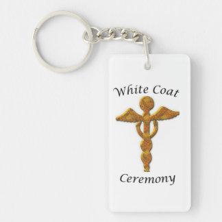 White Coat Ceremony Gold Medical, Custom Gift Keychain