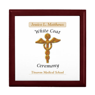 White Coat Ceremony Gold Medical, Square Gift Item Gift Box