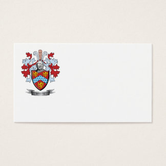 White Coat of Arms Business Card