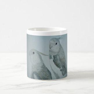 White Cockatiel Parrots watercolor Coffee Mug
