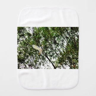 WHITE COCKATOO QUEENSLAND AUSTRALIA BURP CLOTH