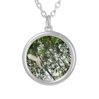 WHITE COCKATOO QUEENSLAND AUSTRALIA SILVER PLATED NECKLACE