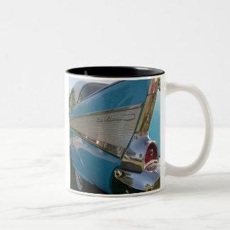 White Coffee Mug with 57 Chevy