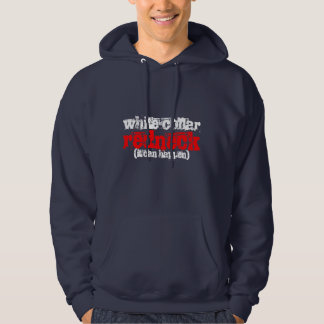 white-collar redneck (it can happen) hooded pullover