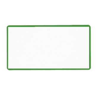White Color with Thin Green Borders Shipping Label