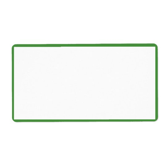 White Colour with Thin Green Borders