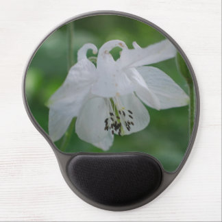 White Columbine Gel Mouse Pad