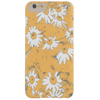 White Cone Flowers with Orange Background Barely There iPhone 6 Plus Case