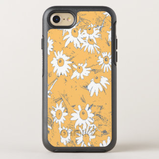 White Cone Flowers with Orange Background OtterBox Symmetry iPhone 8/7 Case