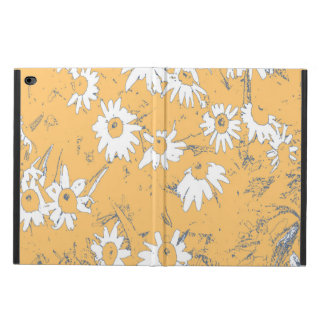 White Cone Flowers with Orange Background Powis iPad Air 2 Case