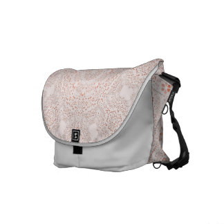White & Coral  Lace Fabric Image  Background Messenger Bags