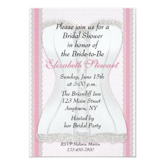 White Corset Bridal Shower Card