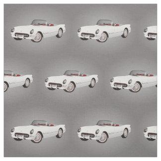 White Corvette Fabric