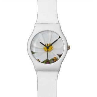 White Cosmos Flower Watch