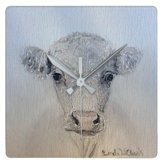 White Cow Clock