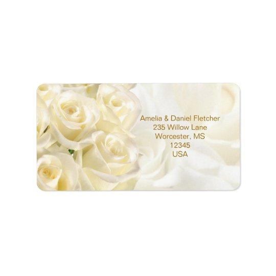 White-cream roses Address Avery Label