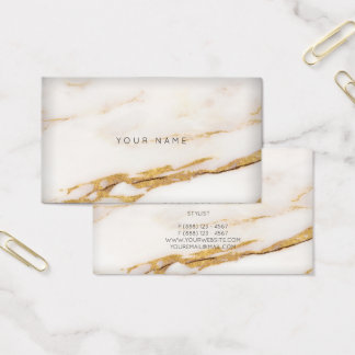 White Creamy Foxier Sepia Gold Gray Marble Vip Business Card