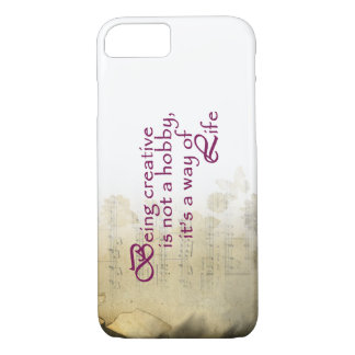 White Creative Music Notes iPhone 7 Case