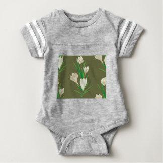 White Crocus Flowers 2 Baby Bodysuit