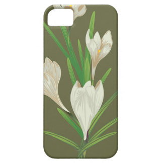 White Crocus Flowers 2 Case For The iPhone 5