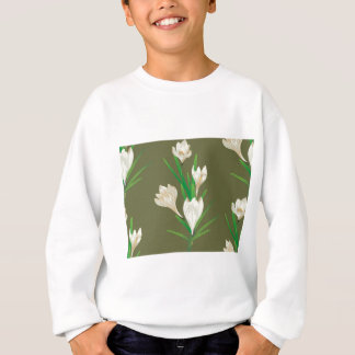 White Crocus Flowers 2 Sweatshirt