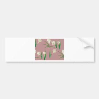White Crocus Flowers Bumper Sticker