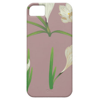 White Crocus Flowers Case For The iPhone 5
