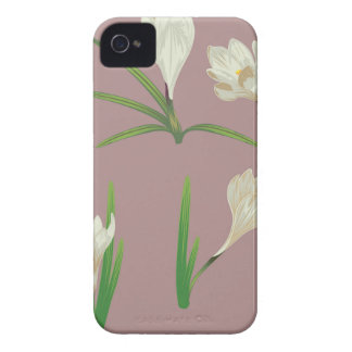 White Crocus Flowers iPhone 4 Case-Mate Cases