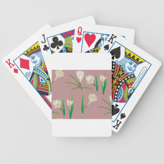 White Crocus Flowers Poker Deck