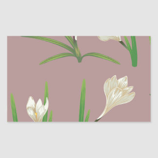 White Crocus Flowers Sticker