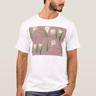 White Crocus Flowers T-Shirt